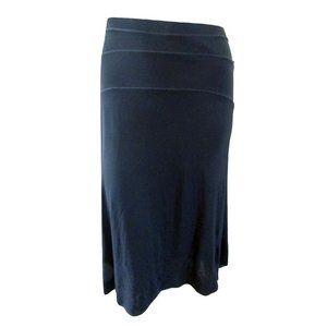 Valentino Black Semi Sheer Midi Skirt 46 (fits 12)